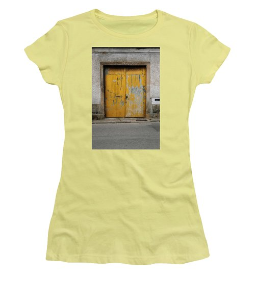 Women's T-Shirt (Junior Cut) featuring the photograph Door No 152 by Marco Oliveira