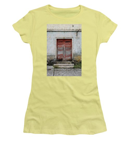 Women's T-Shirt (Junior Cut) featuring the photograph Door No 175 by Marco Oliveira