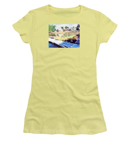 Dories At Beacon Marine Basin Women's T-Shirt (Athletic Fit)