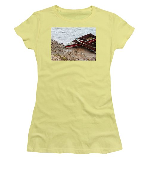 Dos Barcos Women's T-Shirt (Junior Cut) by Kathy McClure