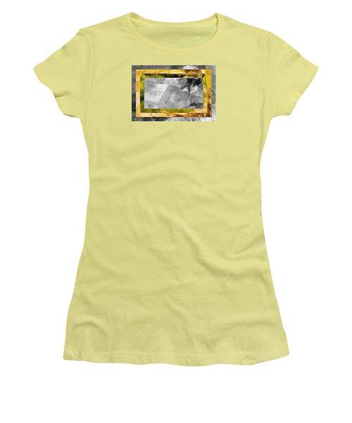 Double Framed Portrait Women's T-Shirt (Junior Cut) by Andrea Barbieri