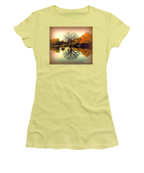 Double Take Women's T-Shirt (Junior Cut) by Nancy Kane Chapman