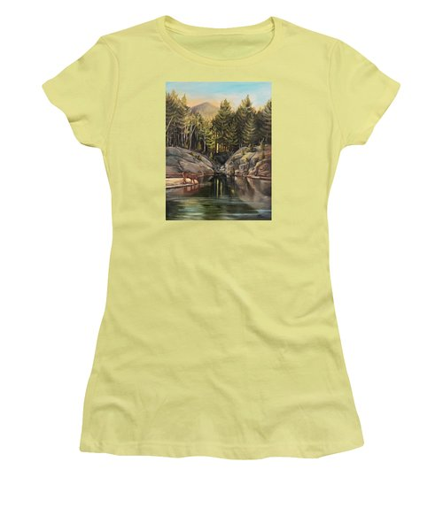 Down By The Pemigewasset River Women's T-Shirt (Junior Cut) by Nancy Griswold