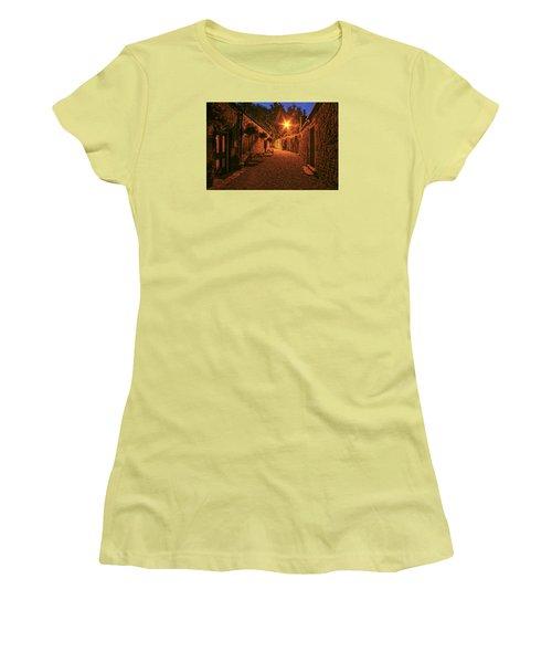 Down The Alley Women's T-Shirt (Junior Cut) by Robert Och