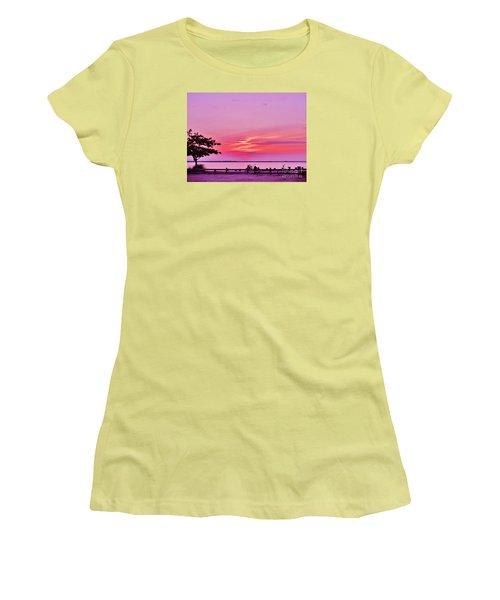Women's T-Shirt (Junior Cut) featuring the photograph Summer Down The Shore by Susan Carella