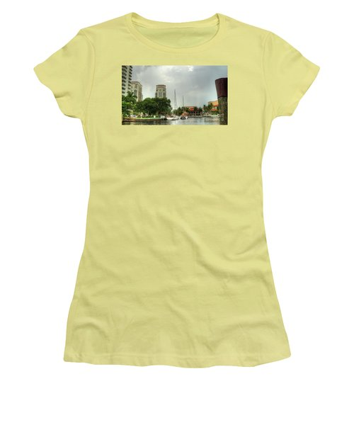 downtown Ft Lauderdale waterfront Women's T-Shirt (Athletic Fit)