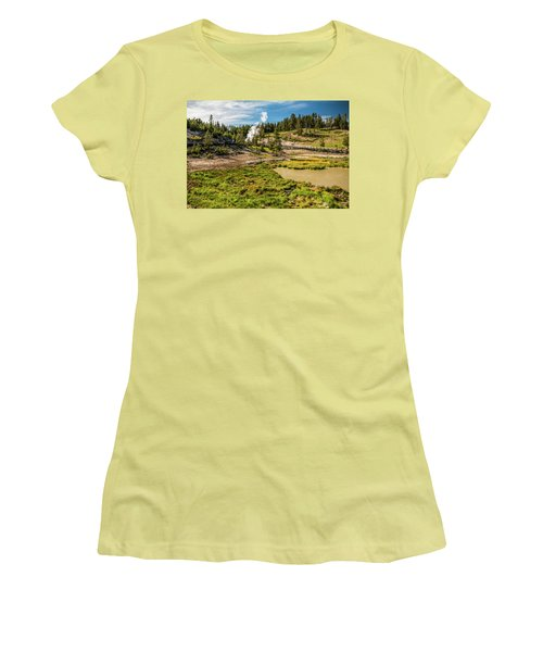 Dragon Geyser At Yellowstone Women's T-Shirt (Athletic Fit)
