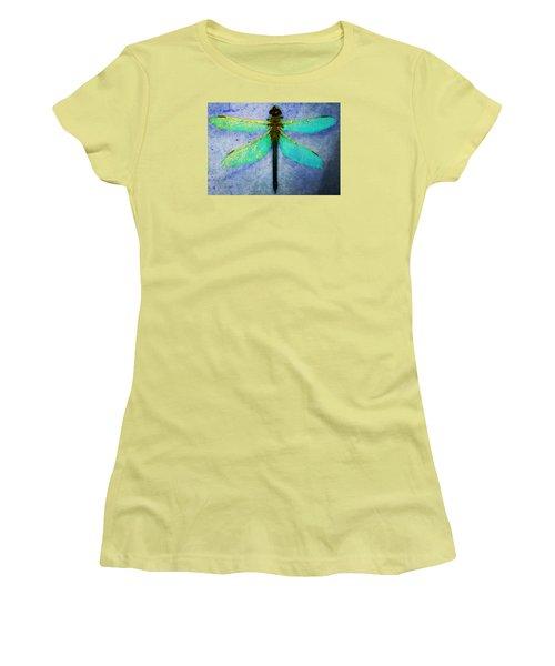 Dragonfly 5 Women's T-Shirt (Junior Cut) by Timothy Bulone