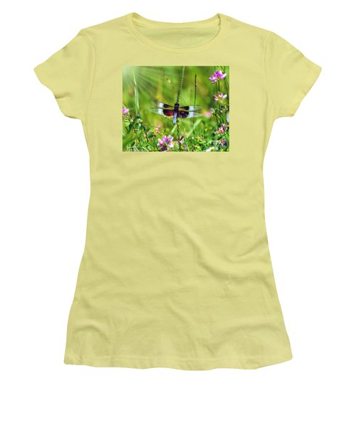 Dragonfly Delight Women's T-Shirt (Junior Cut) by Kerri Farley