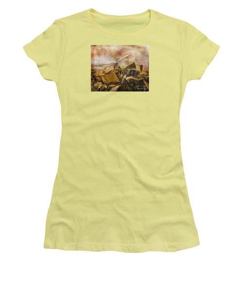 Dragonfly Dreams Women's T-Shirt (Junior Cut) by Rhonda Strickland