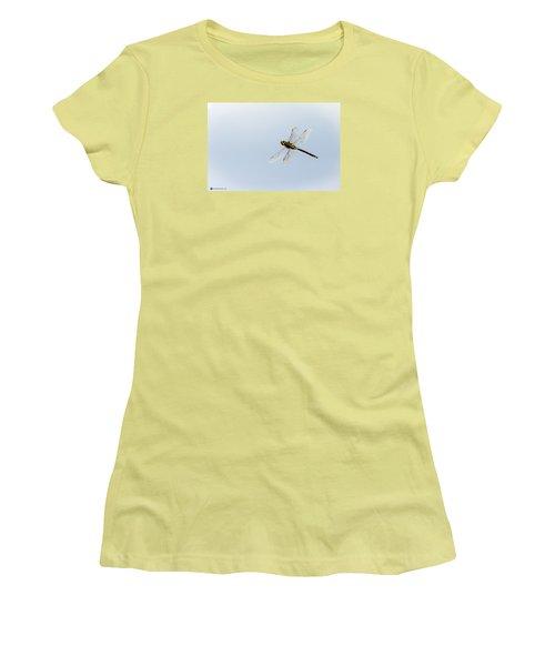Dragonfly In Flight Women's T-Shirt (Junior Cut) by Teresa Blanton