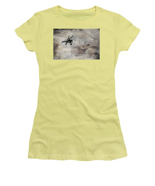 Dragonfly On Solid Ground Women's T-Shirt (Athletic Fit)