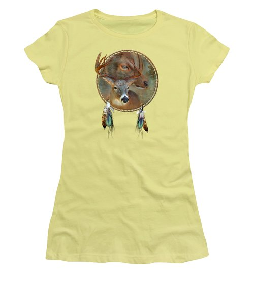 Dream Catcher - Spirit Of The Deer Women's T-Shirt (Athletic Fit)