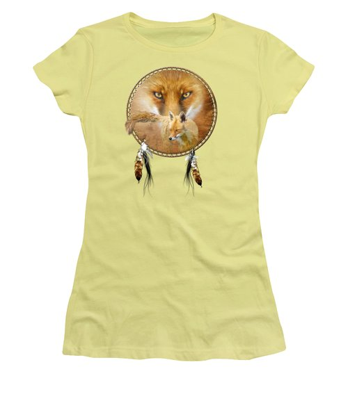 Dream Catcher- Spirit Of The Red Fox Women's T-Shirt (Athletic Fit)