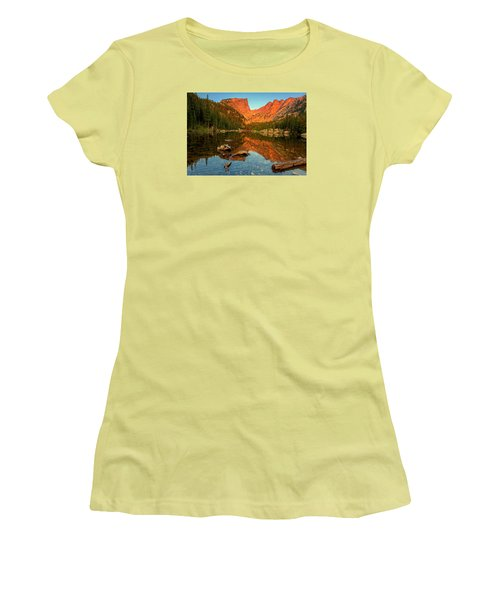 Dream Lake Sunrise Women's T-Shirt (Athletic Fit)