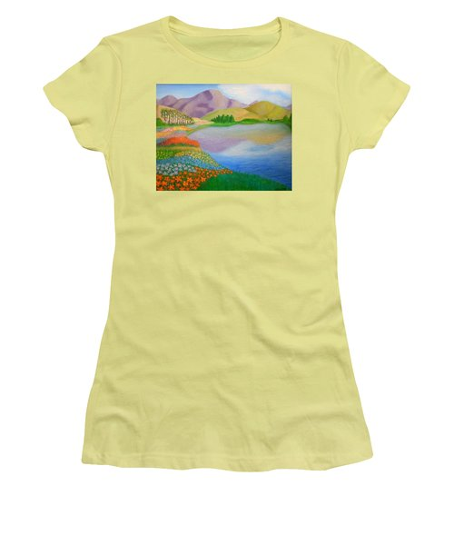 Women's T-Shirt (Junior Cut) featuring the painting Dream Land by Sheri Keith