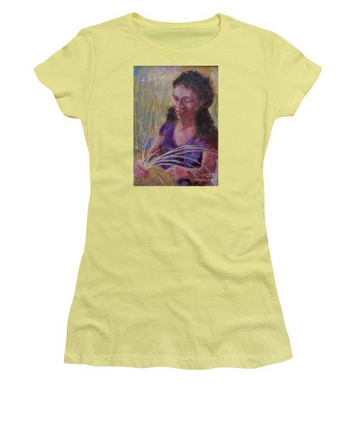 Women's T-Shirt (Junior Cut) featuring the painting Dream Weaver by Gertrude Palmer