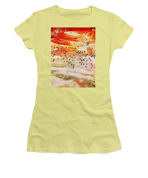 Dreaming Between The Sheets Women's T-Shirt (Junior Cut) by Ann Tracy