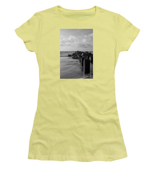 Dreamy Jettie Grayscale Women's T-Shirt (Athletic Fit)