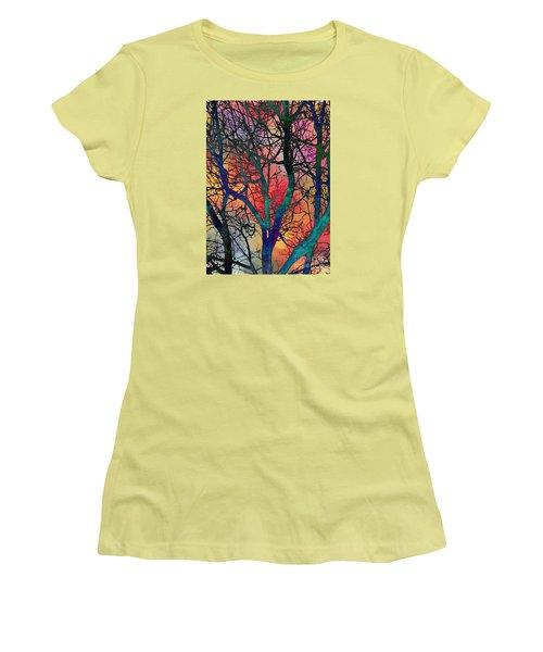 Women's T-Shirt (Junior Cut) featuring the digital art Dreamy Sunset by Klara Acel