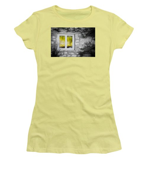 Dreamy Window Women's T-Shirt (Junior Cut) by Carol Crisafi