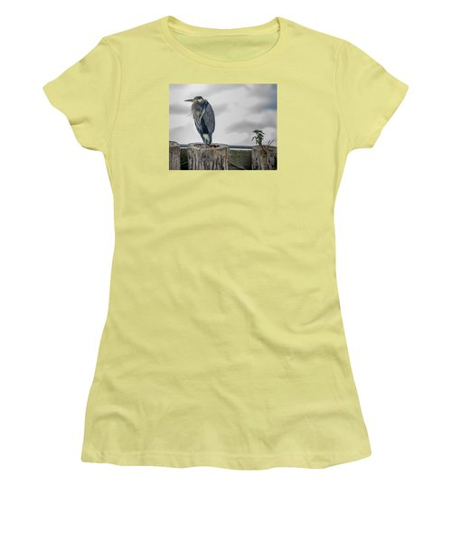 Women's T-Shirt (Junior Cut) featuring the photograph Dreay Day At The Ocean by Jerry Cahill