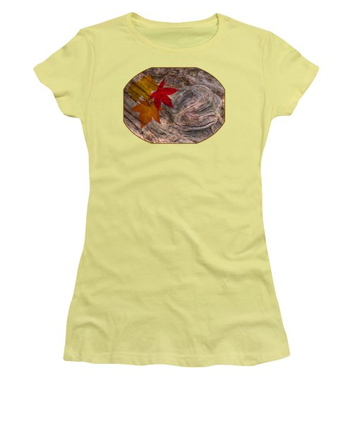 Drifting Autumn Leaves Women's T-Shirt (Athletic Fit)