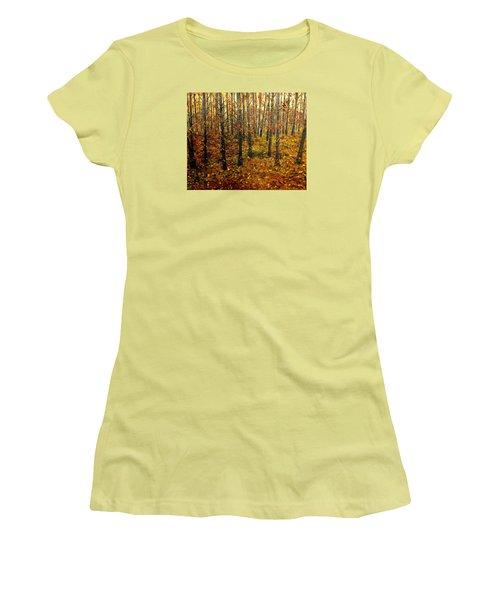 Drifting On The Fall Women's T-Shirt (Junior Cut) by Lisa Aerts