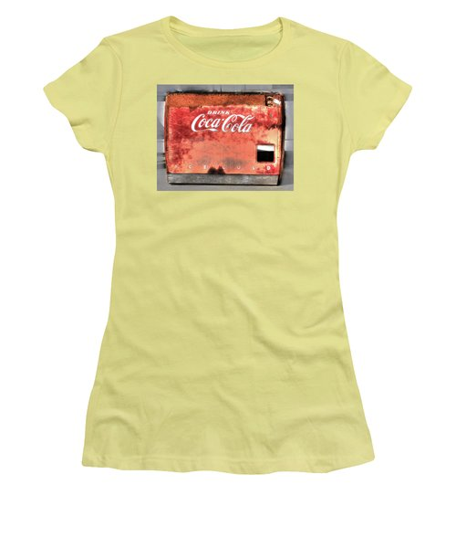 Drink Ice Cold Coca Cola Women's T-Shirt (Athletic Fit)