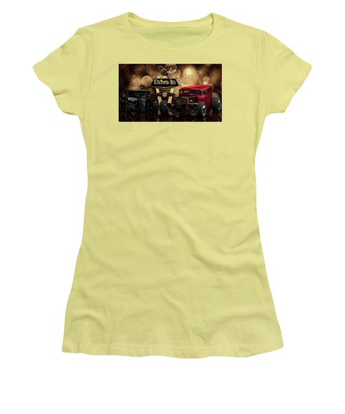 Women's T-Shirt (Junior Cut) featuring the photograph  Drive In by Louis Ferreira