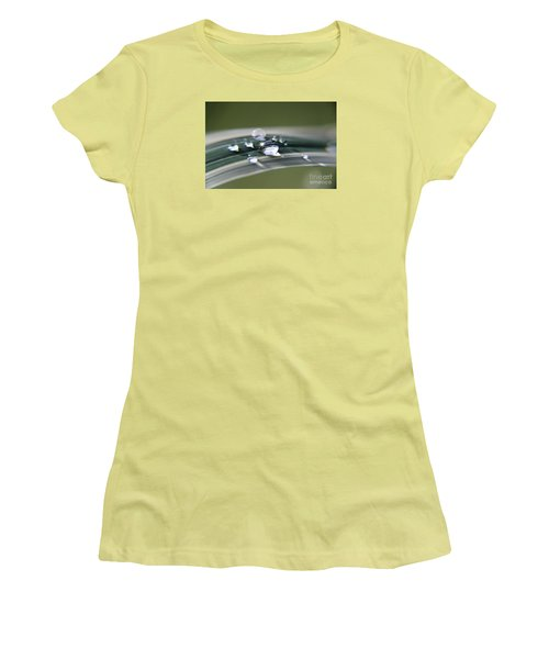 Women's T-Shirt (Junior Cut) featuring the photograph Droplet Families  by Yumi Johnson