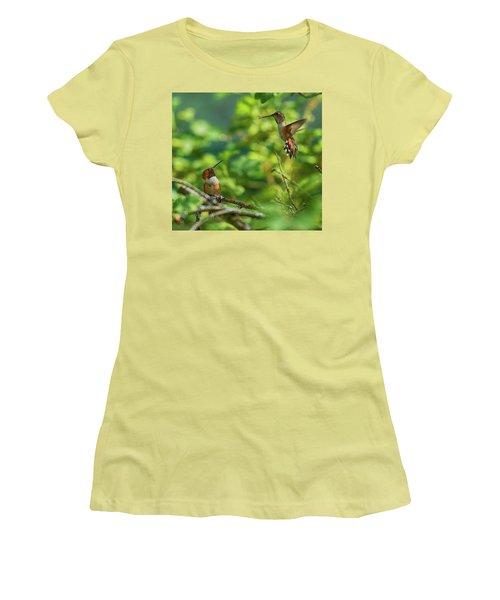 Dropped In Women's T-Shirt (Junior Cut) by Sheldon Bilsker
