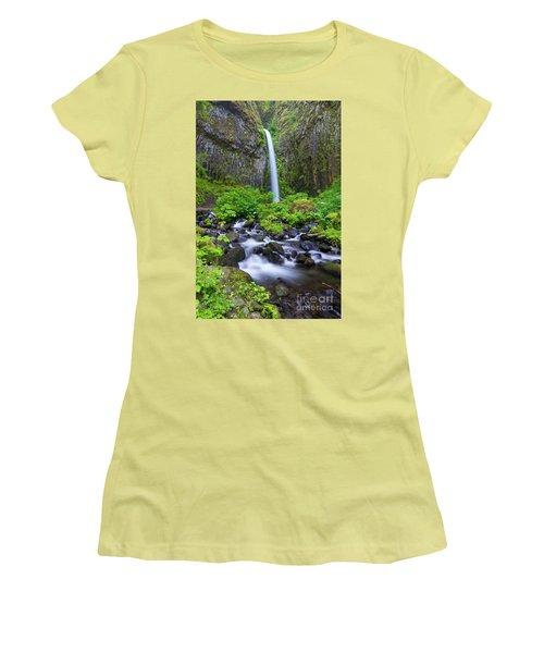 Dry Creek Falls Women's T-Shirt (Athletic Fit)