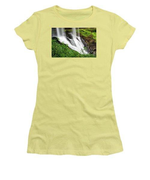 Women's T-Shirt (Junior Cut) featuring the photograph Dry Falls by Allen Carroll
