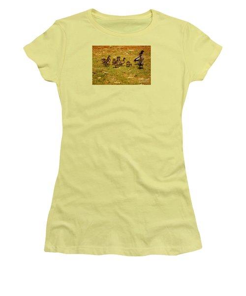 Duck Family I Women's T-Shirt (Junior Cut) by Cassandra Buckley
