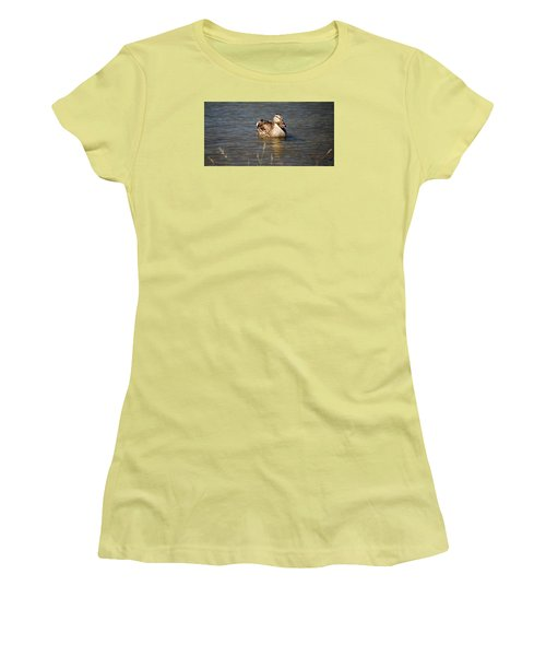 Duck On Lake Women's T-Shirt (Athletic Fit)