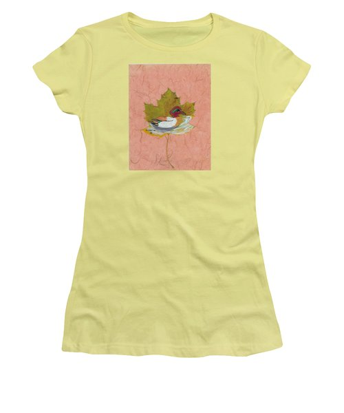 Duck On Pond Women's T-Shirt (Athletic Fit)