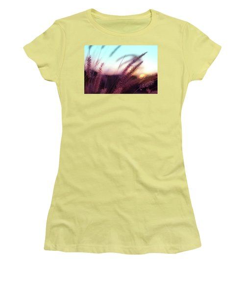 Women's T-Shirt (Junior Cut) featuring the photograph Dune Scape by Laura Fasulo
