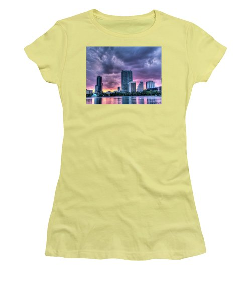 Dusky Downtown Orlando, Florida Women's T-Shirt (Athletic Fit)