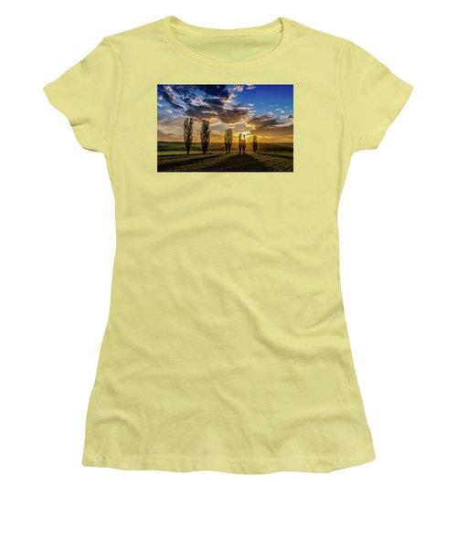 Dutch Moutains At Sunset Women's T-Shirt (Junior Cut) by Rainer Kersten