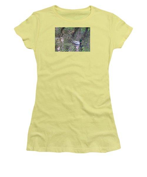 Duck Patterns Women's T-Shirt (Junior Cut) by Suzy Piatt