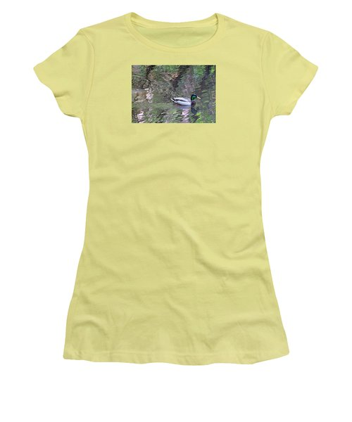 Duck Patterns Women's T-Shirt (Athletic Fit)