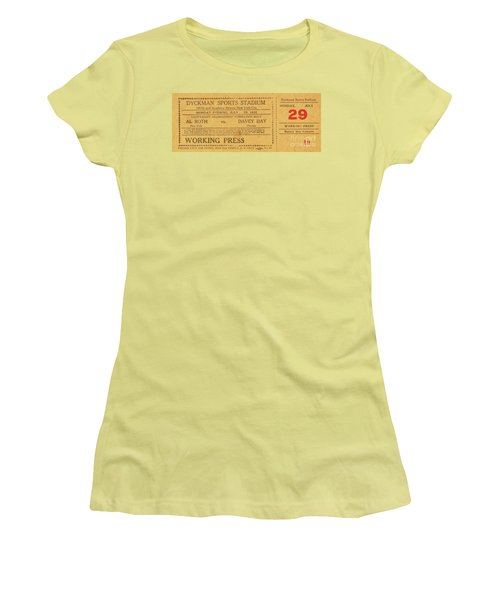 Dyckman Oval Ticket Women's T-Shirt (Junior Cut)