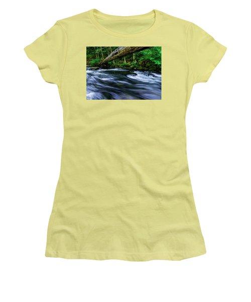 Eagle Creek Rapids Women's T-Shirt (Athletic Fit)