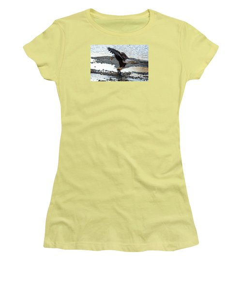 Eagle Dinner Women's T-Shirt (Junior Cut) by Sabine Edrissi