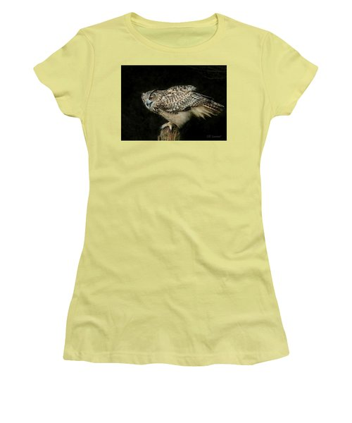 Eagle-owl Women's T-Shirt (Athletic Fit)