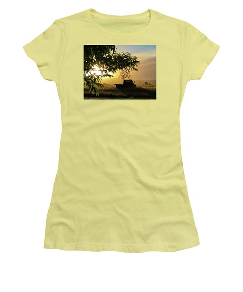 Women's T-Shirt (Athletic Fit) featuring the photograph Early Morning In Watsonville by Lora Lee Chapman