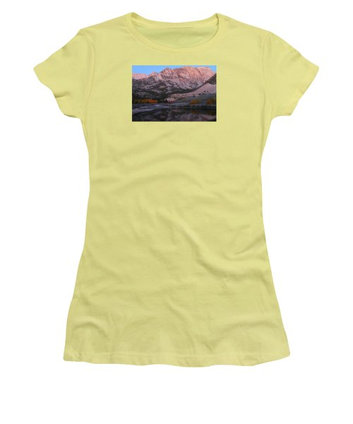 Early Morning Light At North Lake In The Eastern Sierras During Autumn Women's T-Shirt (Junior Cut) by Jetson Nguyen