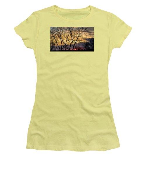 Early Spring Sunrise Women's T-Shirt (Junior Cut) by Randy Scherkenbach
