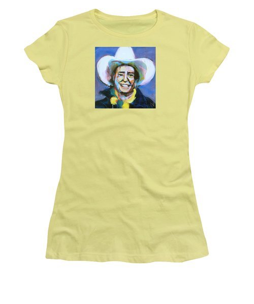 Early Willie The Flying Cowboy Women's T-Shirt (Athletic Fit)